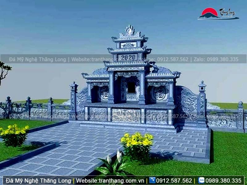Lăng thờ đạo Phật với các hoa văn tứ quý