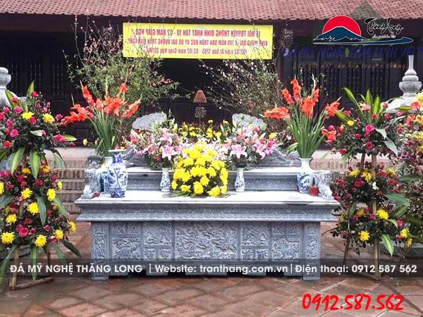 Mẫu bàn thờ đá, bàn lễ đá đẹp tại đình làng tỉnh Phú Thọ