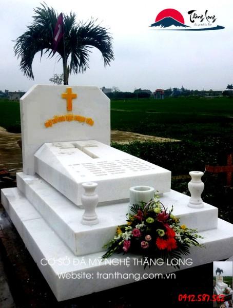 bảng giá mộ đá công giáo, mộ đá trắng