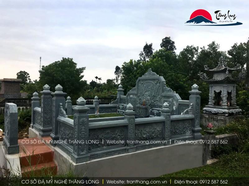 giá lăng mộ đá xanh rêu mới nhất đẹp   Đá Mỹ Nghệ Thăng Long