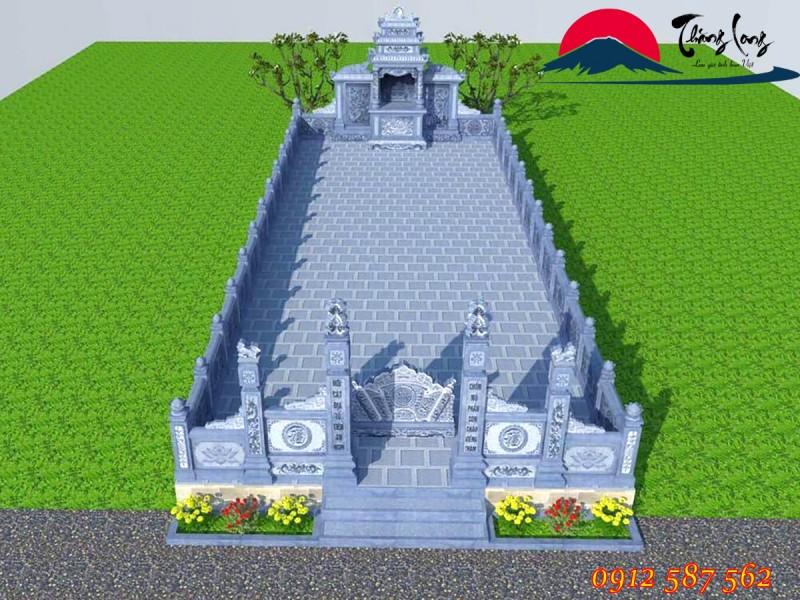 Bản vẽ 3d khu lăng mộ gia tộc