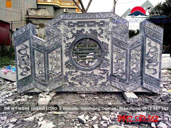 mẫu bình phong đá đẹp do Đá Mỹ Nghệ Thăng Long điêu khắc