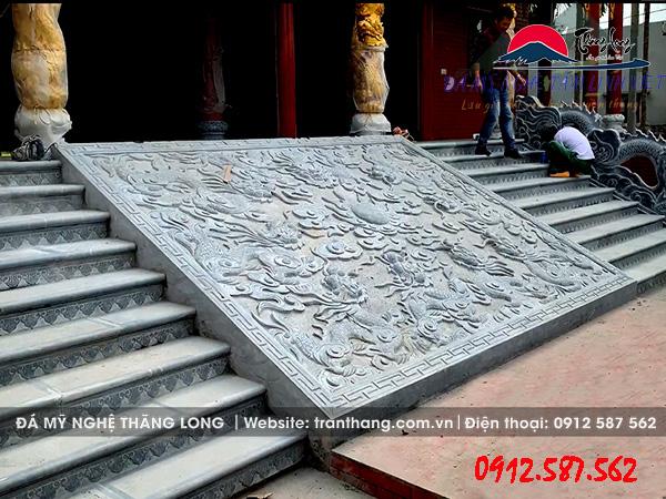 Chiếu Rồng Đá phong thủy | Đá xanh tự nhiên nguyên khối Ninh Bình.