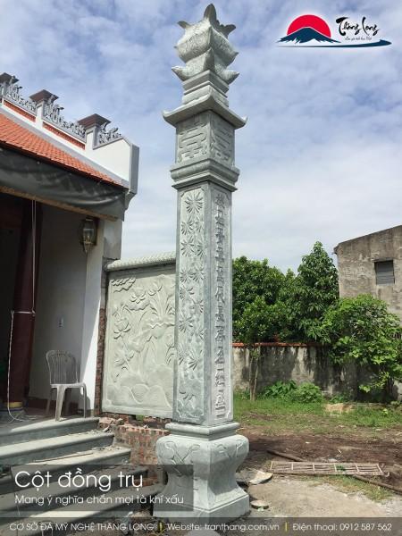 Cột đồng trụ đá còn được xem là cột lửa của nhà thờ họ
