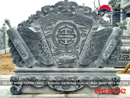 cuốn thư đá (bình phong đá) Ngũ Phúc Lâm Môn