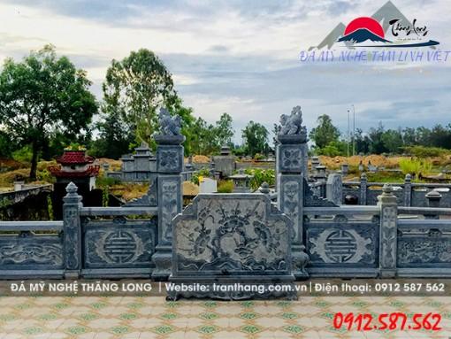 mẫu cuốn thư đá khu lăng mộ đẹp do Đá Mỹ Nghệ Thăng Long điêu khắc