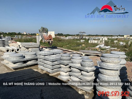 Tảng đá kê chân cột gỗ bán tại tỉnh Hưng Yên