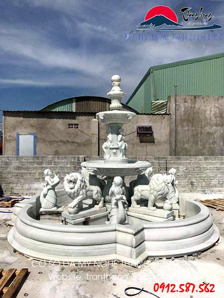 Kiến trúc đá đài phun nước bằng đá