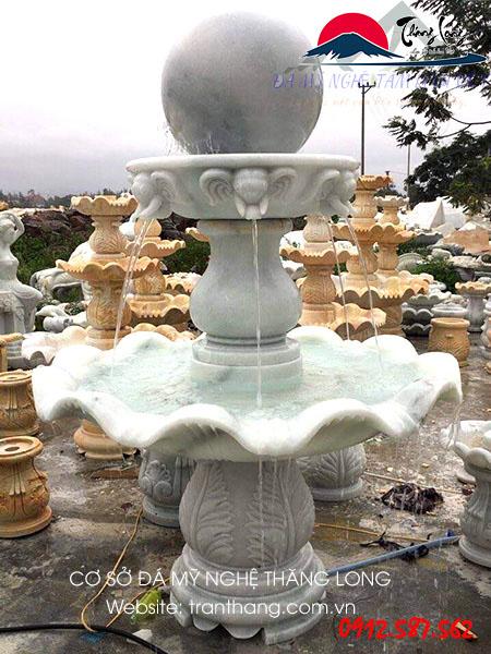 kiến trúc đá đài phun nước cá heo