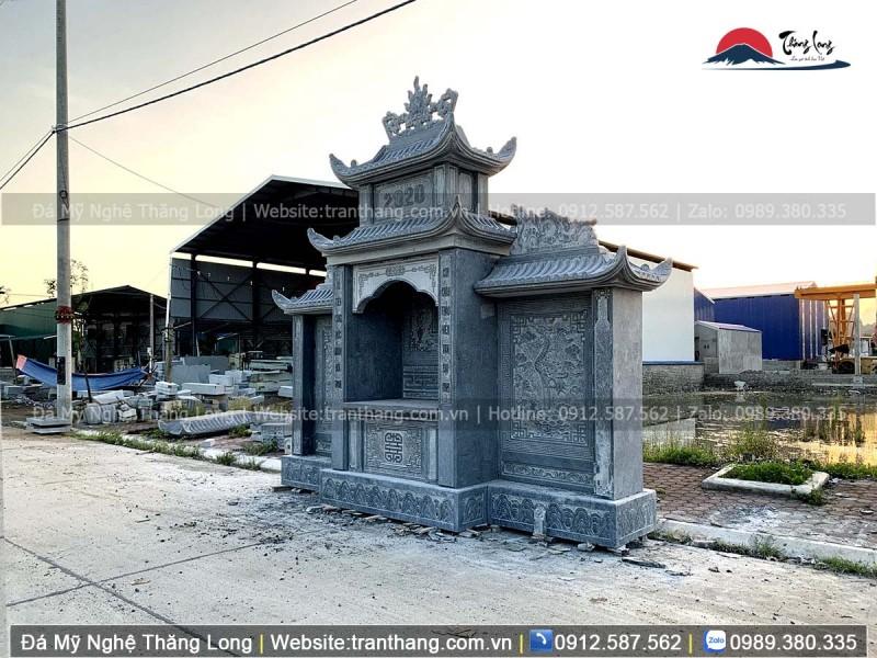 lăng thờ đá cực đẹp chế tác bởi Thăng Long