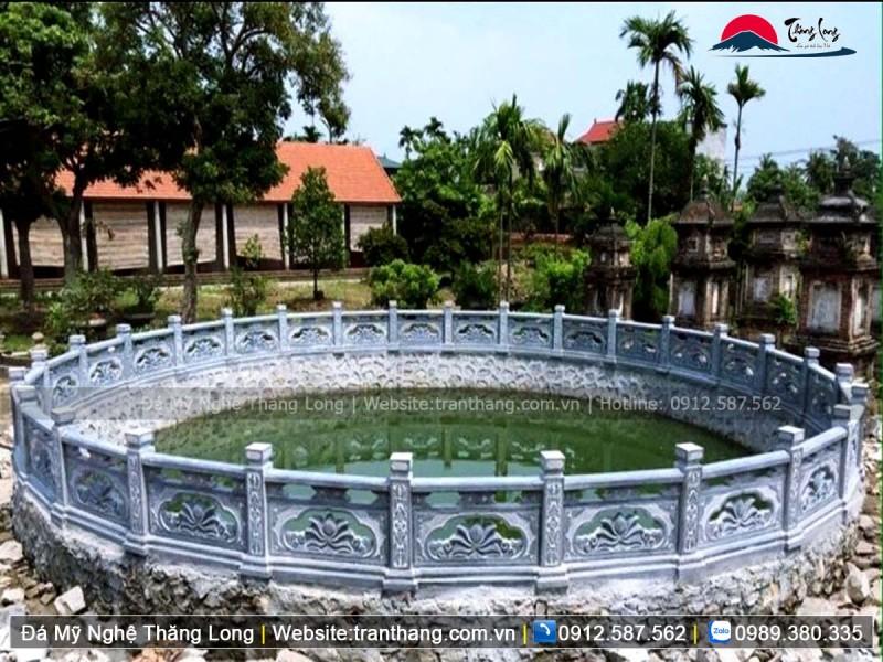 Sản phẩm lan can đá bao quanh giếng làng cổ tại thủ đô Hà Nội.
