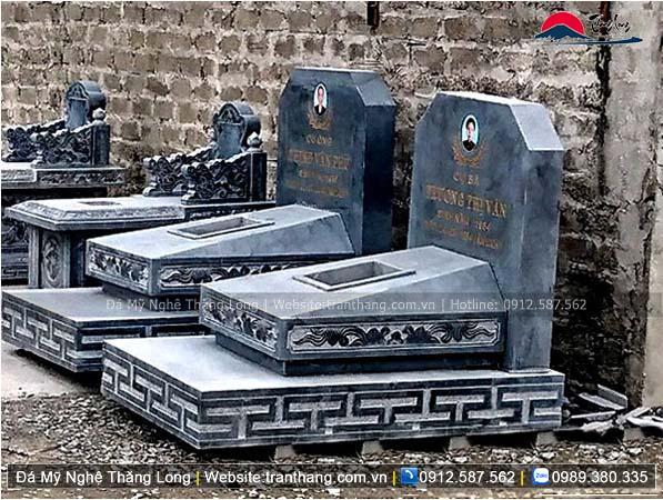 Xây dựng mồ mả bằng đá tại Quảng Trị