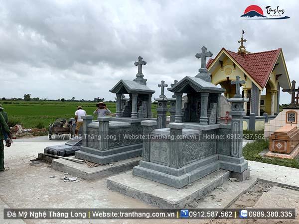 Xây dựng mồ mả bằng đá tại Điện Biên