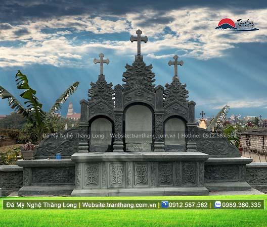 Xây dựng mồ mả bằng đá tại Quảng Ninh