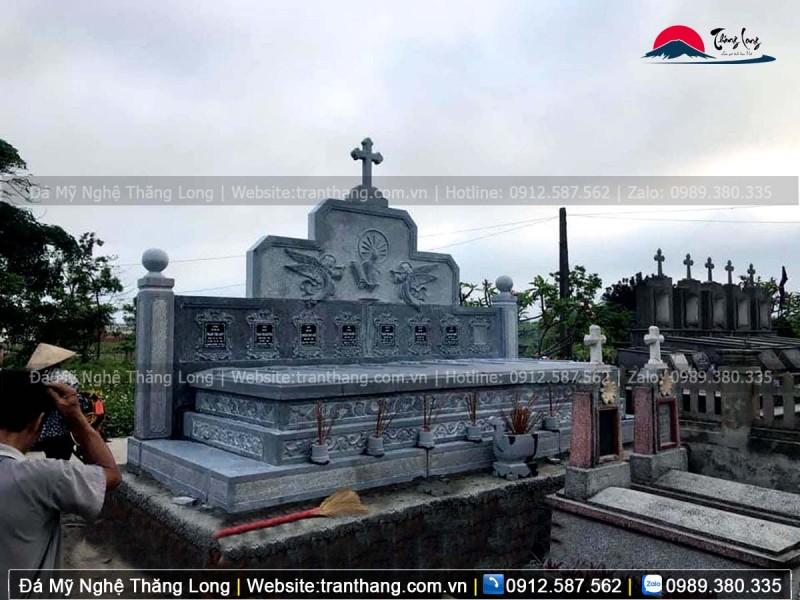 Mẫu khu lăng thờ chung công giáo lắp đặt tại Bắc Ninh