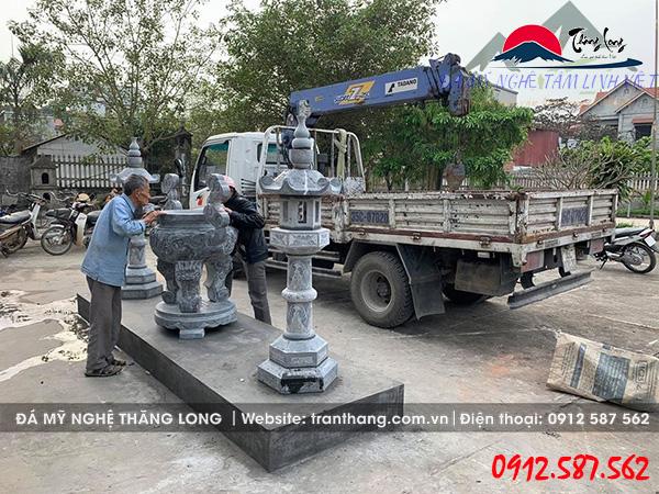 Lắp đặt mẫu lư hương đá đẹp tại Kiến an Hải Phòng.