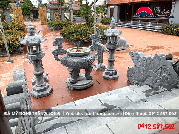 Sản phẩm lư hương đá mỹ nghệ Ninh Bình.