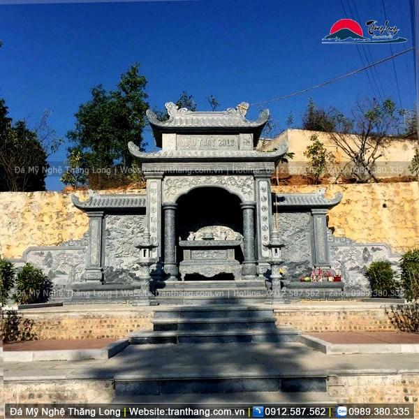 Lăng thờ đá xanh thường được nhiều người lựa chọn vì độ bền và tính thẩm mỹ