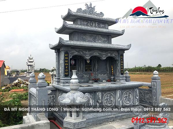 mộ đá đôi ba mái Ninh Bình