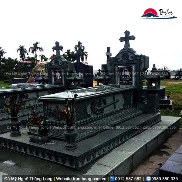 mộ đá công giáo không mái