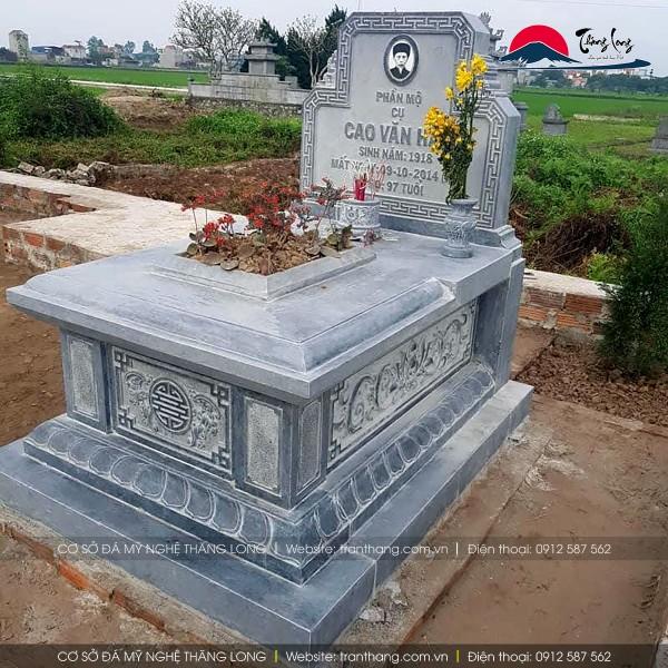 Mẫu mộ đá do Thăng Long sản xuất