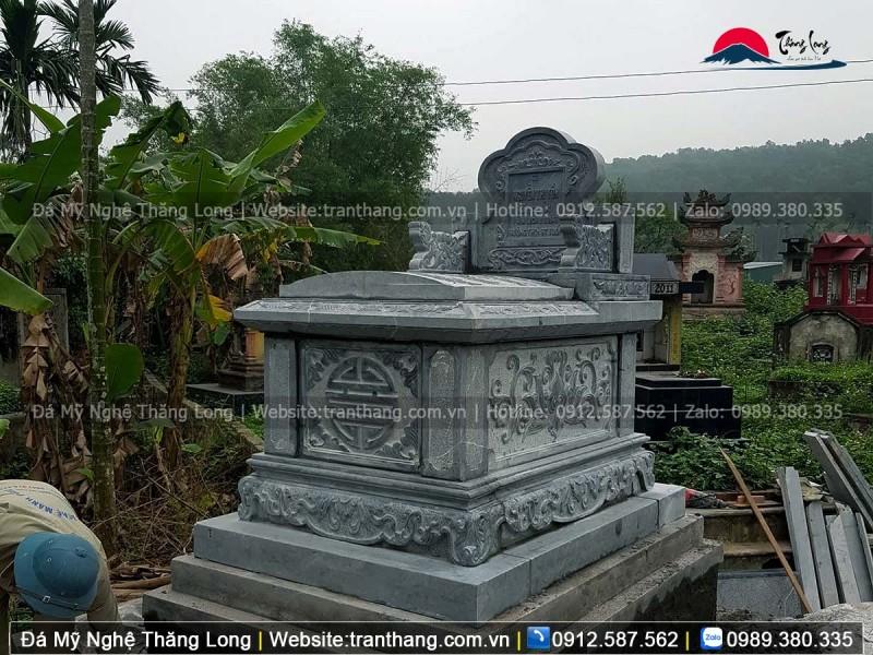 mộ tam sơn không mái đẹp đơn giản