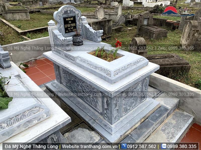 mẫu mộ đơn giản không mái