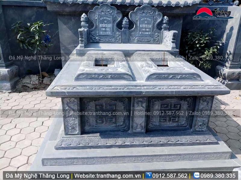 mộ đá đôi đẹp