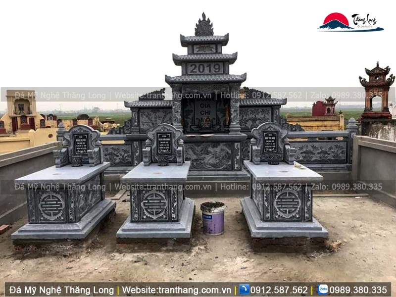 Mẫu mộ tam sơn đá xanh Thanh Hóa