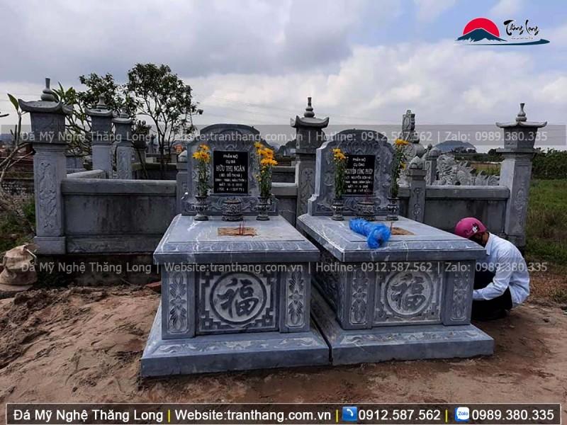 mẫu mộ đôi cho đôi vợ chồng