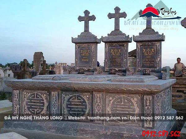 mộ đá công giáo liền 3