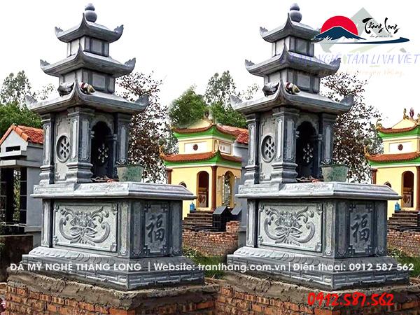 Xây mộ đá 3 mái đao cho gia tiên tại Bình Dương, Bình Phước, Thành Phố Hồ Chí Minh