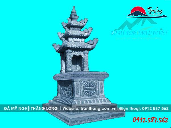 Xây mộ đá 3 mái đao cho gia tiên tại An Giang, Bến Tre, Hậu Giang