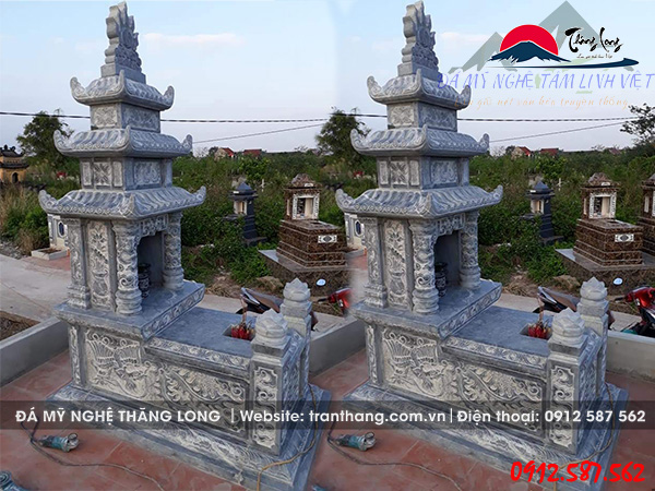 Mộ Đá ba mái | Đá Mỹ Nghệ Thăng Long.