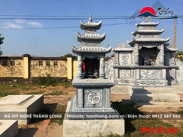 Xây mộ đá 3 mái đao cho gia tiên tại Bắc Kạn, Bắc Giang, Bắc Ninh