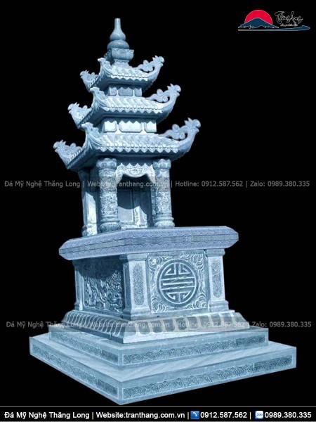 Mộ ba mái đá xanh Ninh Bình chuẩn phong thủy