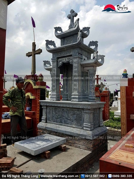 Lăng thờ đá công giáo đẹp được lắp đặt tại tỉnh Hải Phòng