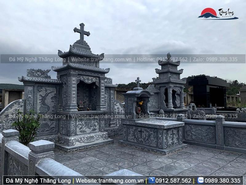 Lăng mộ đá công giáo dành cho người đã khuất theo đạo thiên chúa