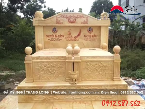 mộ mộ đá đôi bằng đá vàng