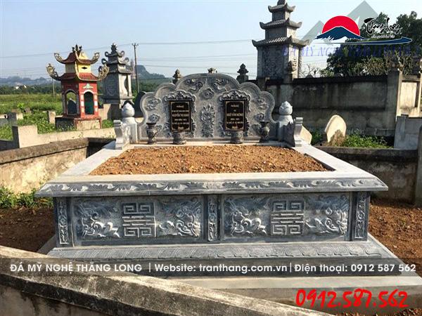 ngôi mộ đá đôi kích thước chuẩn phong thủy