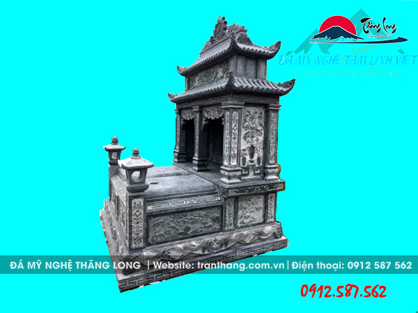 Mẫu mộ đôi đá xanh đẹp bán tại Hưng Yên, Lai Châu, Lạng Sơn