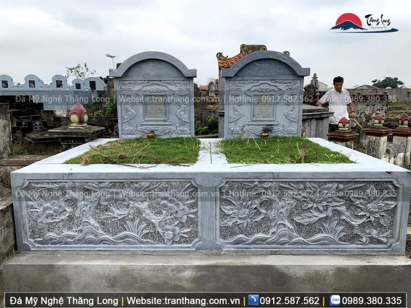 mộ đôi bằng đá xanh