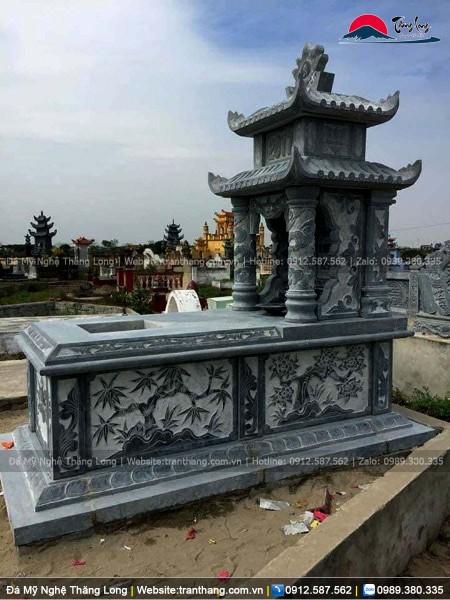 mộ hai mái bằng đá do Thăng Long sản xuât