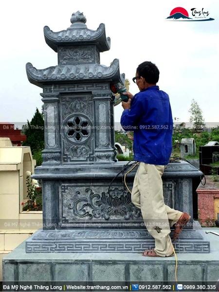 Hoàn thiện làm sạch cho ngôi mộ cụ Ông