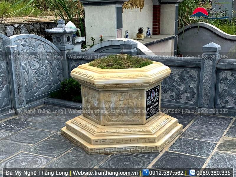 kích thước mộ đá lục giác chuẩn phong thủy