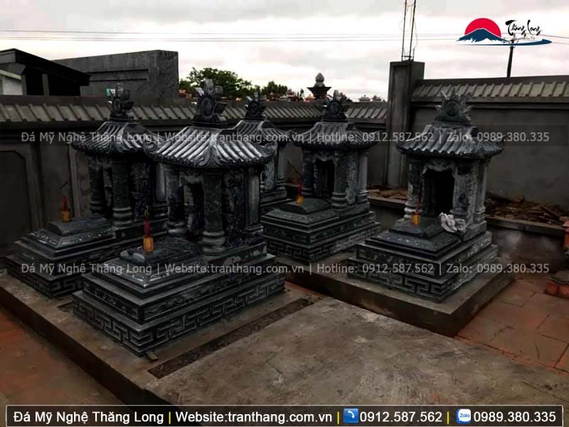 Mộ một mái với kích thước nhỏ phù hợp trong khu lăng mộ gia đình