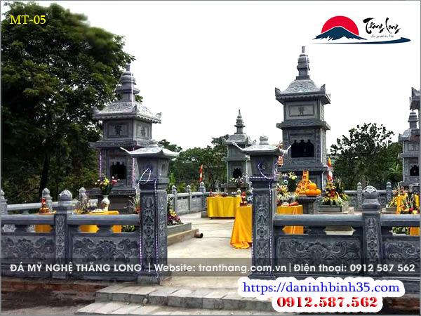 Mộ tháp đá Phật giáo tỉnh Vĩnh Phúc.