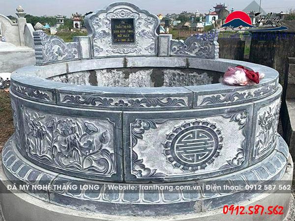 mẫu mộ đá tròn đẹp tại bài rịa vũng tàu