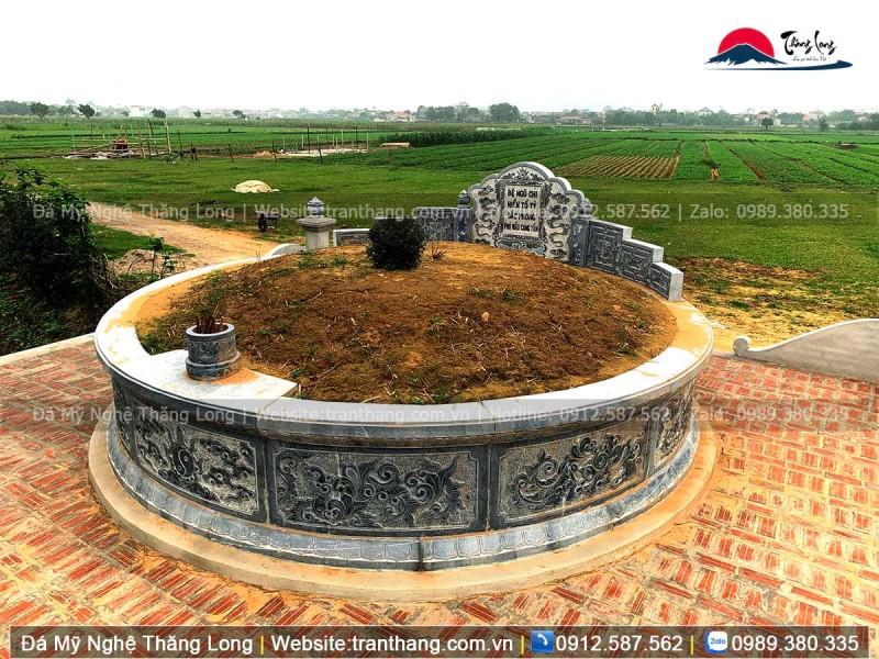 Mộ tròn giúp hấp thụ nhiều nguyên khí tốt cho ngôi mộ