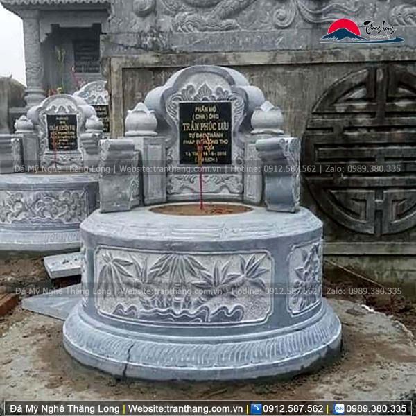 Thiết kế mộ tròn đẹp